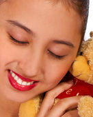Teenager With A Teddy Bear — Stock Photo
