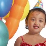 Small Kid Enjoying Her Birthday — Stock Photo #6490644
