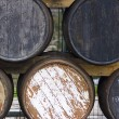 Stock Photo: Old Wooden Cask For Aging Wines