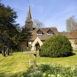 Old English Church On A Sunny Day — Stock Photo