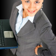 Successful Business Woman Using A Notebook Computer — Stock Photo