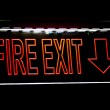 Fire Exit Sign For Emergency — Stock Photo