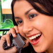Pretty Girl Chatting On The Phone — Stock Photo