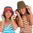 Two Teenage Girls In Hats — Stock Photo #6494945