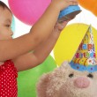 Playing With Teddy At Party — Stock Photo