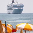 Cruise Ship In Tropical Climate — Stock Photo #6496525