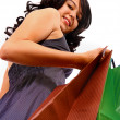 Girl In The Mall Doing Some Shopping — Stock Photo #6496682