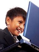 Boy Having Fun On The Computer — Stock Photo