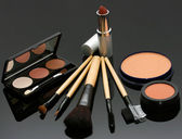 Lipstick Eye Shadow And Blusher — Stock Photo