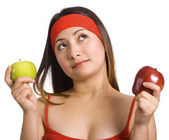 Choosing And Deciding Which Apple — Stock Photo