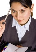 Business Woman With Her Organizer — Stock Photo