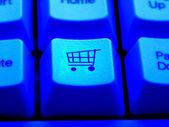 Internet Shopping Cart Payment Press Button — Stock Photo