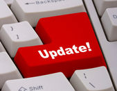 Aktualizace software nebo informace — Stock fotografie