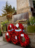 Poppies On A British War Memorial — Stock Photo