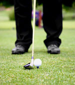Teeing Off On A Golf Course — Stock Photo