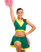 Lise ponpon kız dans — Stok fotoğraf