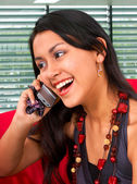 Young Asian Woman On A Phone — Stock Photo