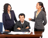 Happy And Smiling Co Workers — Stock Photo