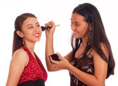 Girls Applying Makeup — Stock Photo