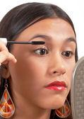 Teenager Applying Mascara — Stock Photo