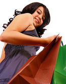 Girl In The Mall Doing Some Shopping — Stock Photo