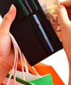 Going Shopping And Paying In Euros — Foto Stock