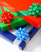 Pile Of Gifts For Giving At Christmas — Stock Photo