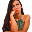 Moody And Annoyed Girl Thinking About Things — Stock Photo