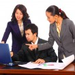 Workers In An Office Working Together — Stock Photo #6501532
