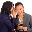 Two Female Officemates Sharing A Secret — Stock Photo
