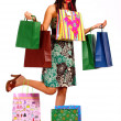 Happy Lady Shopper With Lots Of Purchases — Stock Photo #6501547