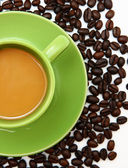 Fresh Cup Of Brewed Coffee In The Morning — Stock Photo