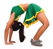 Animadora activo haciendo algunos ejercicios — Foto de Stock