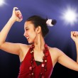 Teenage Girl Enjoying Dancing at a Disco — Stock Photo #6670739