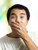 Man With Surprised Expression — Stock Photo