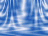Abstract blue background - curtain and waves — Stock Photo