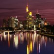 The fantastic view of Frankfurt's skyline in the night — Stock Photo #5735317