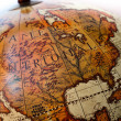 Part of an old globe showing america and mexico — Stock Photo