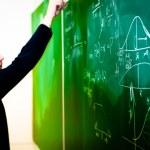 Writing on chalk board — Stock Photo