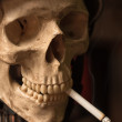 Portrait of mwho smoked cigarettes until he died — Stock Photo #5683491