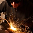 Welder at work doing his job — Stock Photo