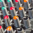 Texture of an audio mixer with buttons — Stock Photo