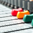 Part of an audio sound mixer with buttons — Stock Photo