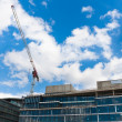 Construction site with blue sky — Stock Photo