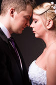 Young couple in wedding wear — Stock Photo