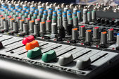 Studio mixer with sliders and buttons — Stock Photo