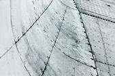 金属背景与曲线的模式 — 图库照片