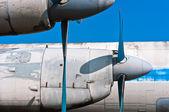 Cerrar vista de una hélice de avión — Foto de Stock