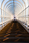 Tunnel with stairs leading up — Stock Photo