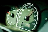 Dashboard of a car with sleective focus — Стоковое фото